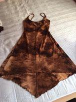 sukienka na WESELE złota R.38