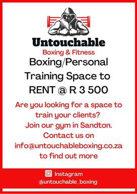 Boxing / Personal Training space to rent