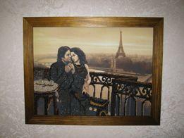 """Картина вышитая бисером """"Париж"""""""