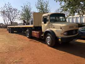 Mercedes-Benz bullnose with 12 meter trailer