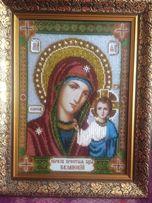 Картина бисером Образ Пресвятой Богородицы Казанской