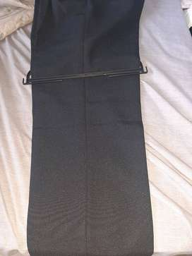 Formal double pleated black pants for sale
