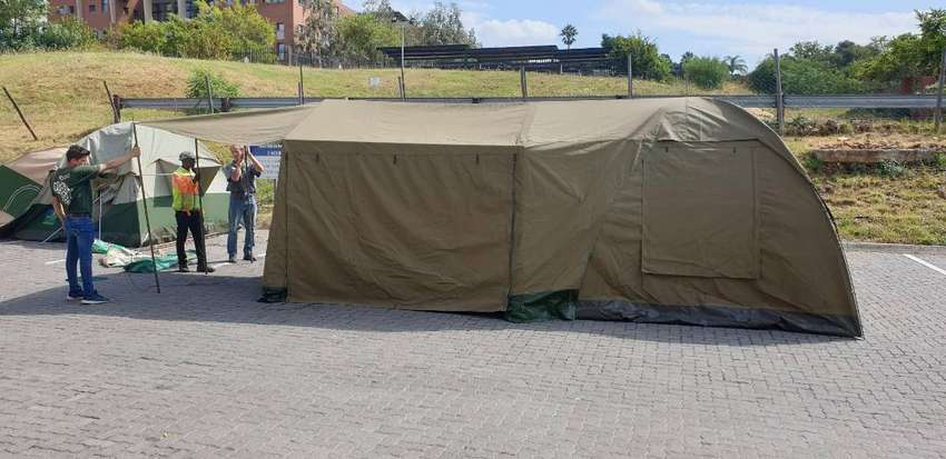 Family Camping Tent of Heavy Duty Canvass 0