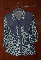 Блузка жіноча джинс+шифон, розмір М