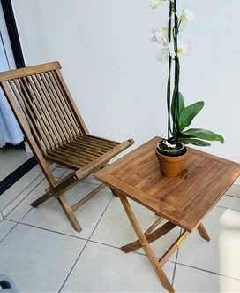 Solid Teak Outdoor chair and table