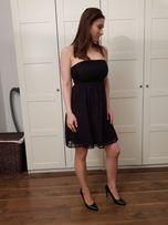 WESELE SYLWESTER Sukienka czarna, koronkowa bez ramion Reserved r. 36