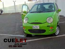 CHERY QQ 3 CYLINDER/0.8 LITER STRIPPING FOR PARTS OR SPARES