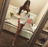 Biała sukienka s nowa