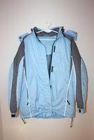 Kurtka zimowa narciarska niebieska z kapturem rozm. L