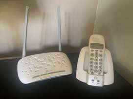 ADSL router and telephone