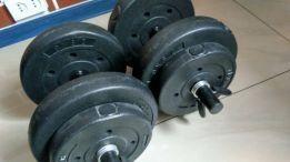 Hantle Ciężarki Everlast 2x10 kg 2xGryfy Winylowe 20KG
