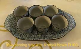 Serving tray and bowls