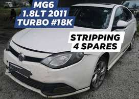 MG 6 1.8LT TURBO 2011 #18K STRIPPING FOR SPARES