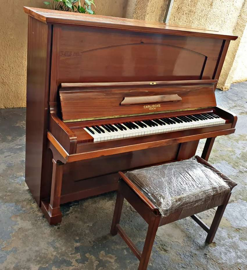 Upright Piano - Carl Ecke with stool 0