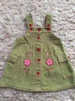 Sukienka sztruks- rozmiar 68