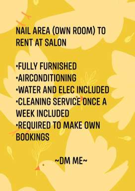 Nail area to rent