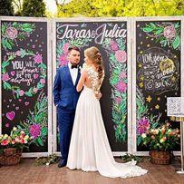 АКЦИЯ! Меловая доска фотозона ширма арка баннер на свадьбу