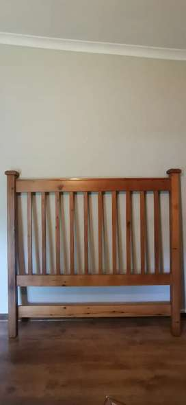 Oregon Pine headboard for double bed.