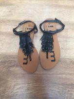 Czarne sandały 38
