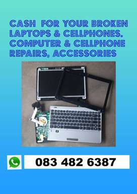 Cash for your broken Laptops
