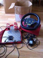 Игровой руль с педалями Logitech momo 1990-х