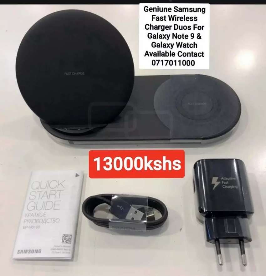 Genuine Samsung Fast Wireless Charger Duo For  Note 9 & Galaxy Watch 0