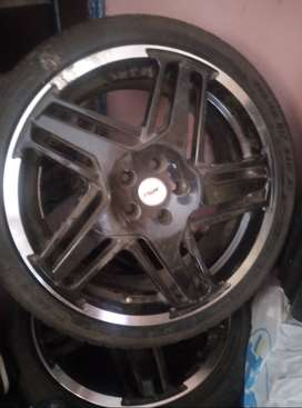 Rims and 3 tyres