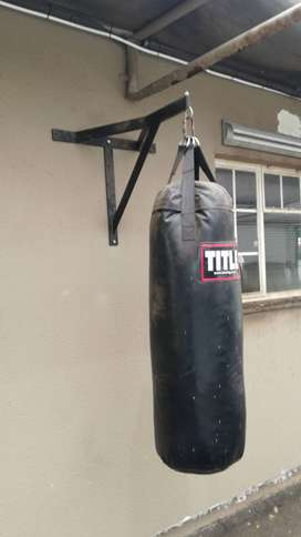 Boxing bag and bracket