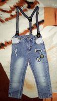 Модные джинсы на подтяжках Overdo