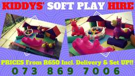 ON SPECIAL - Kids SOFT Play Hire WITH Delivery