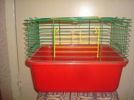Продаю клетку со снимающимся поддоном для хомяков, морских свинок