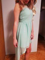 Suknia piękna asymetryczna