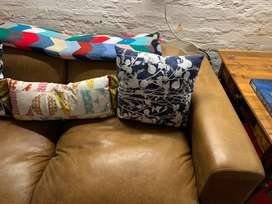 Two seater coricraft leather couch