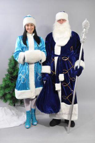 Комплект Костюм Дед мороз бордовый и Снегурочка бирюзовый Мелитополь - изображение 5