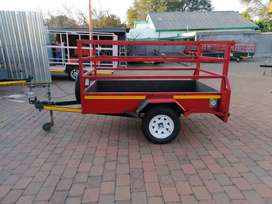 Framed trailer 2mx1,3m with accessories