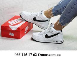 Женские зимние кроссовки Nike Air Force Hight 5 цвет 6670 ЖМИ