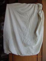 Детская махровая простынь-наматрасник в коляску или кроватку на резин
