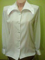 biała bluzka koszulowa z eleganckim kołnieżem