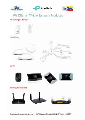 TP link WiFi Routers and Extenders