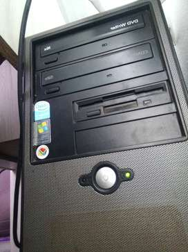 Desktop computer with cordless keyboard and mouse plus a hp laptop