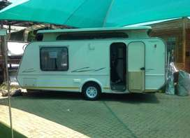Spacious caravan and tent with tv connections