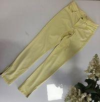 Zara cytrynowe spodnie 36 S jak nowe zamki rurki