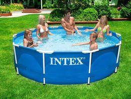 Каркасный круглый бассейн басейн METAL FRAME POOL Intex 28202
