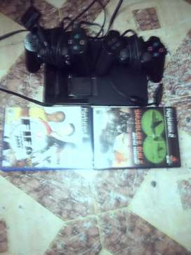PlayStation 2 two controllers 3 games