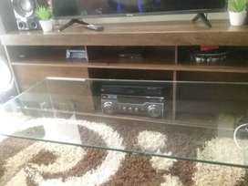 Havana TV stand and glass coffee table for sale