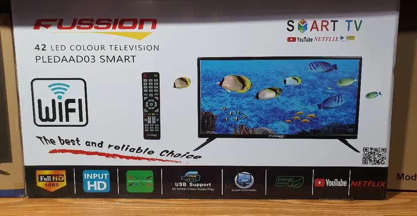 "Fussion TV  42"" Smart with Hdmi Usb"