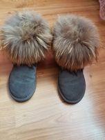 Futro naturalne buty śniegowce
