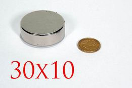 Неодимовый магнит 30x10 (30кг.) N42 ПОЛЬША 100%, ПОДБОР, ВСЕ РАЗМЕРЫ!