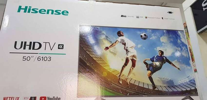 50 inches Hisense 4 Ultra UHD Brand new high quality TV. We deliver 0