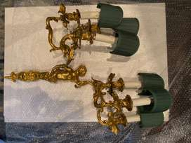 Antique gold leafed wall lights